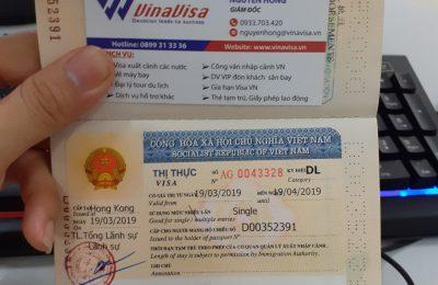 Gia Hạn Visa Việt Nam (Làm khẩn)- Quốc Tịch Hong Kong Du Lịch