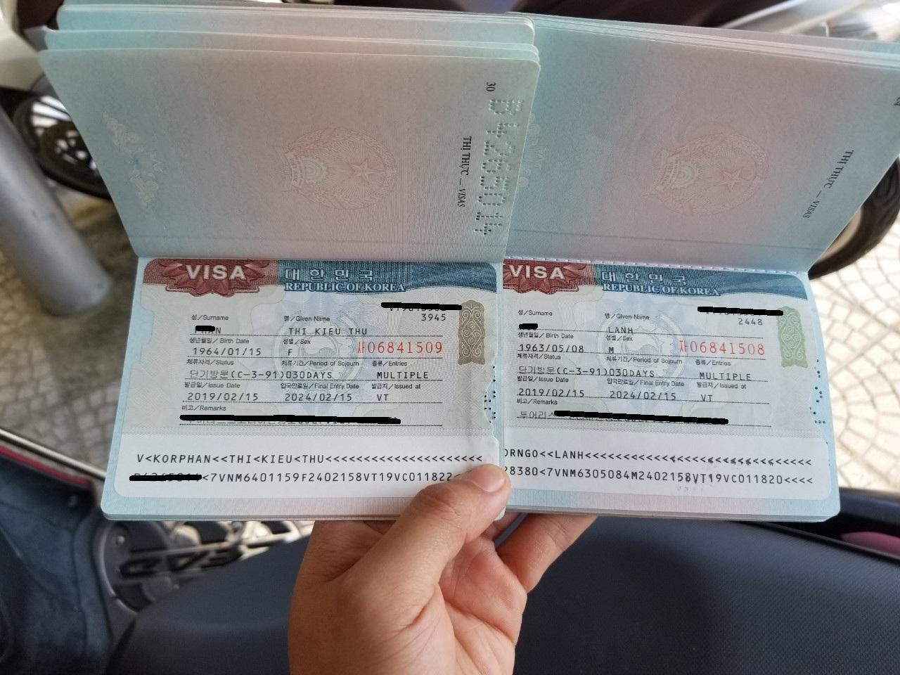 Visa 5 NĂM HÀN QUỐC - Khách hàng Vina Visa