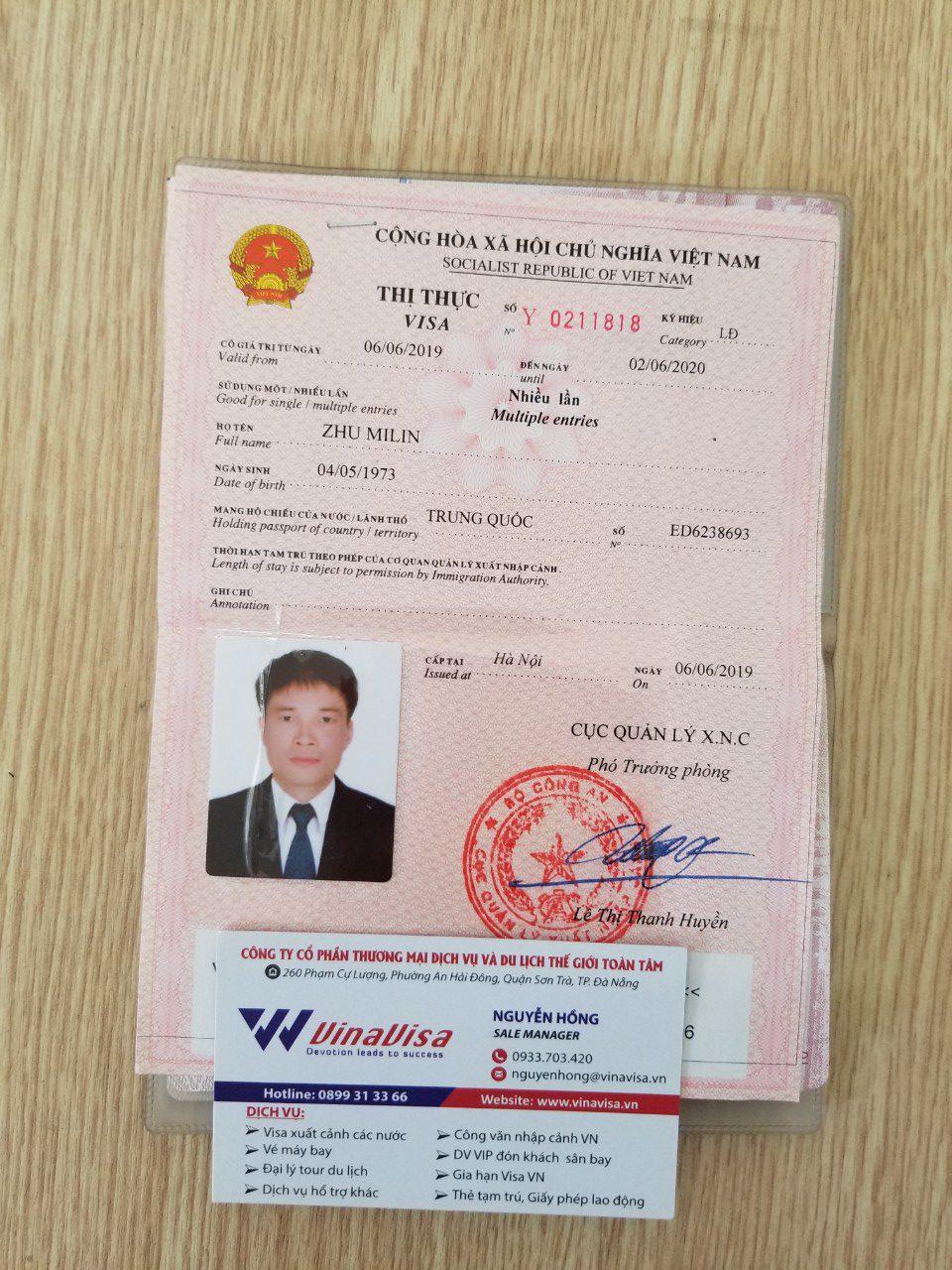 Visa Việt Nam theo diện DN - Quốc tịch Korea