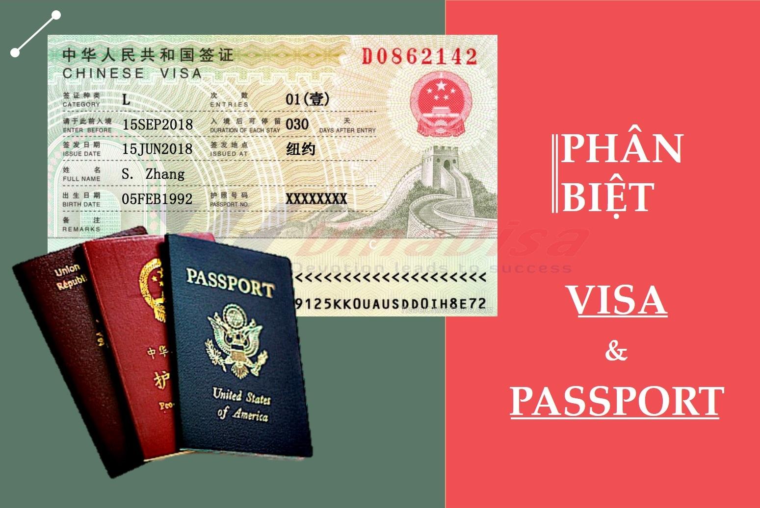 Visa là gì? Passport là gì? Điểm khác biệt giữa visa và passport?