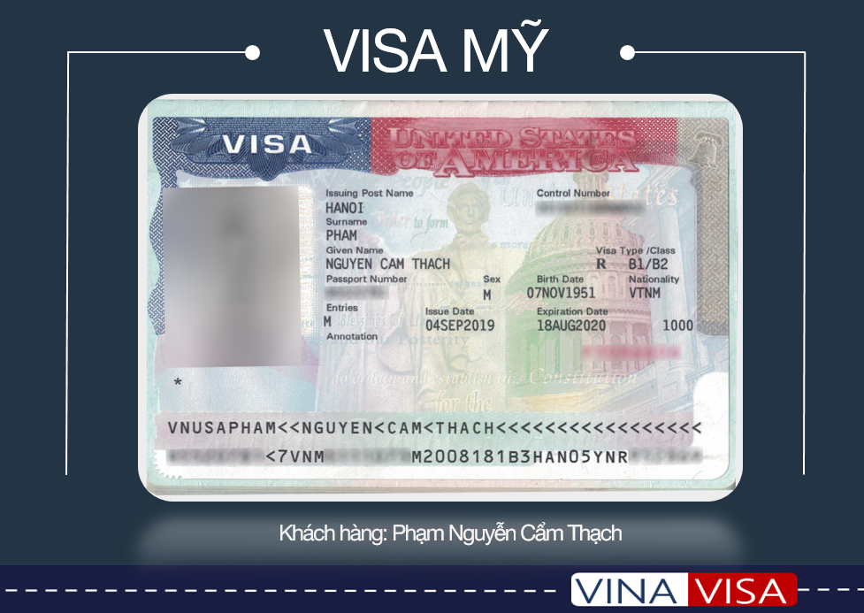 Kết quả gia hạn visa Mỹ