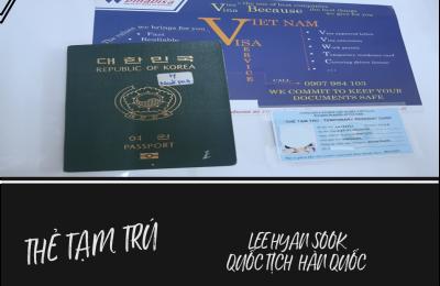 [KẾT QUẢ] THẺ TẠM TRÚ diện lao động cho người quốc tịch Hàn Quốc làm việc ở Việt Nam