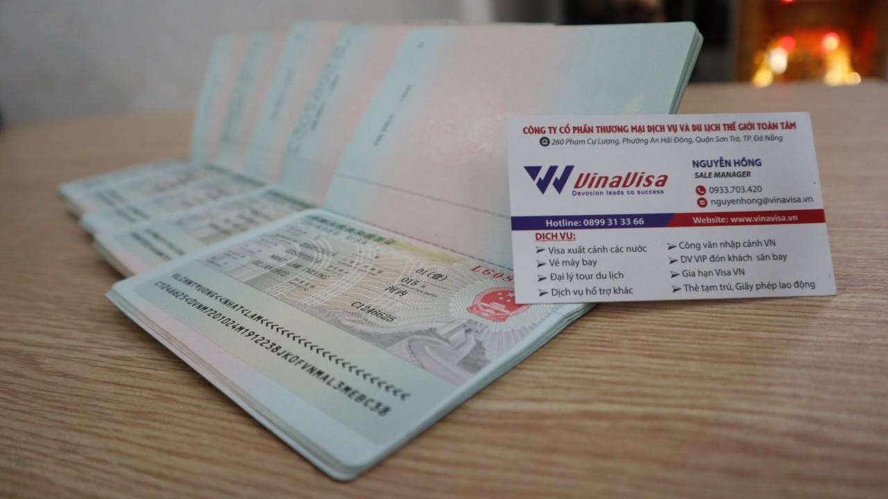 visa đi trung quốc loại m